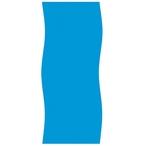 Swimline - Overlap 15' Round Blue 48 in. Depth Above Ground Pool Liner, 20 Mil - 365020