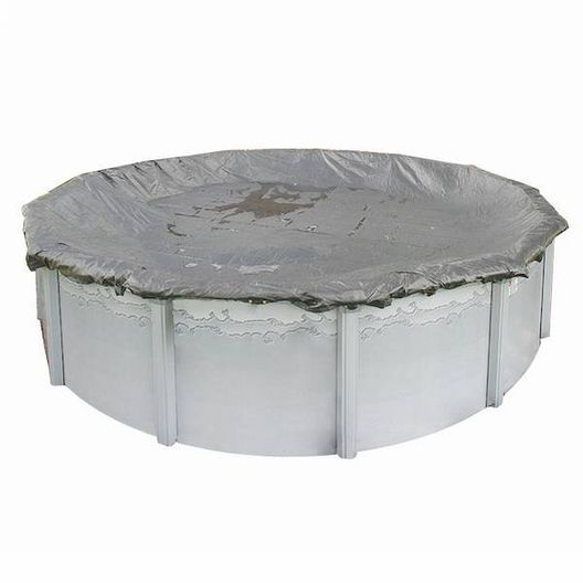 Gorilla 33' Round Above Ground Winter Cover, 20 Year Warranty, Gray