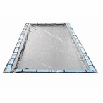 Gorilla 30' x 50' Rectangle In Ground Winter Cover, 20 Year Warranty, Gray