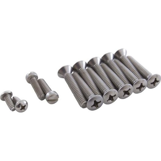 """Replacement 1-3/8"""" Screw kit standard 10 hole w/d"""