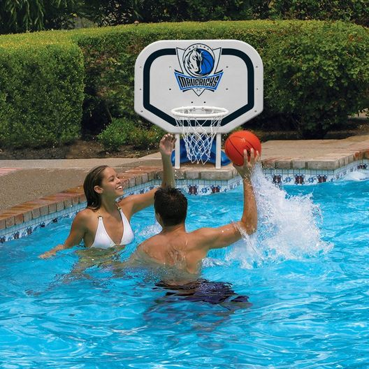 Poolmaster - Dallas Mavericks NBA Pro Rebounder Poolside Basketball Game - 365507