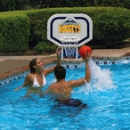 Denver Nuggets NBA Pro Rebounder Poolside Basketball Game