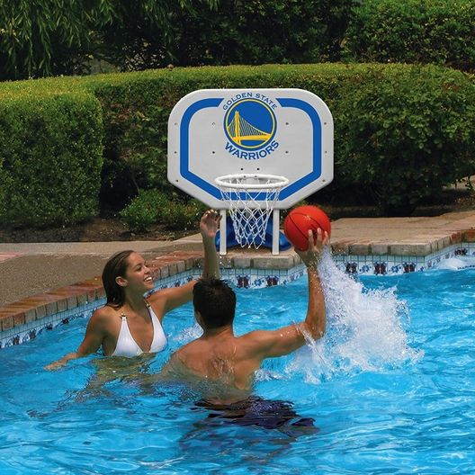 Poolmaster - Golden State Warriors NBA Pro Rebounder Poolside Basketball Game - 365509
