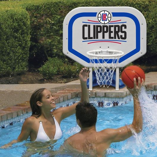 LA Clippers NBA Pro Rebounder Poolside Basketball Game