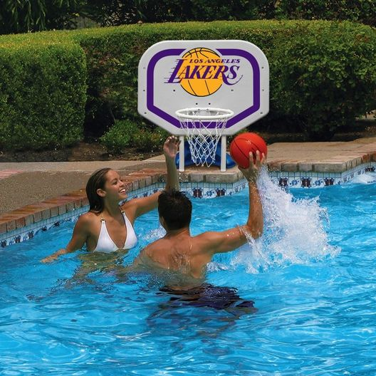 Poolmaster - LA Lakers NBA Pro Rebounder Poolside Basketball Game - 365512