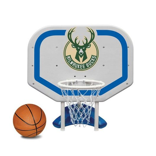 Milwaukee Bucks NBA Pro Rebounder Poolside Basketball Game