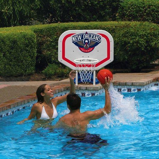Poolmaster  New Orleans Pelicans NBA Pro Rebounder Poolside Basketball Game