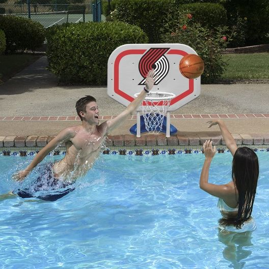 Poolmaster  Portland Trail Blazers NBA Pro Rebounder Poolside Basketball Game
