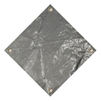 Polarshield  Pro 16 x 32 Rectangle Winter Pool Cover with Right Hand Step 15-Year Warranty Silver