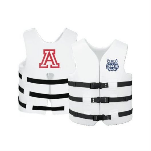 Texas Recreation - Super Soft Life Vest, University of Arizona, Adult Small - 366283
