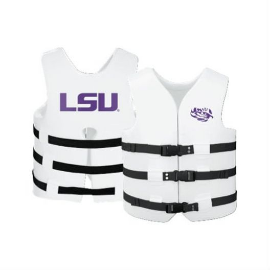 Texas Recreation - Super Soft Life Vest, LSU, Adult Small - 366286