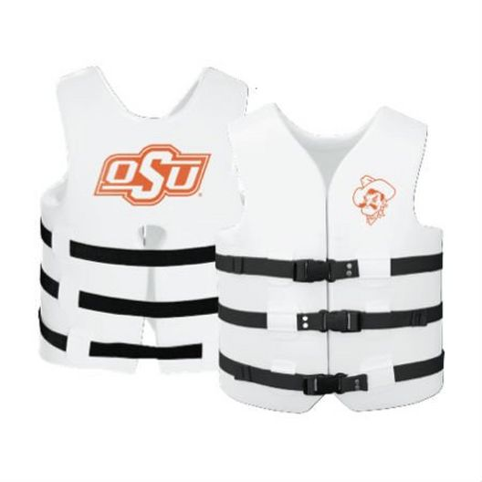 Texas Recreation - Super Soft Life Vest, Oklahoma State, Adult Small - 366287
