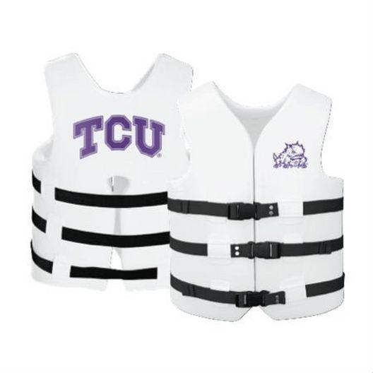 Texas Recreation - Super Soft Life Vest, TCU, Adult Small - 366289