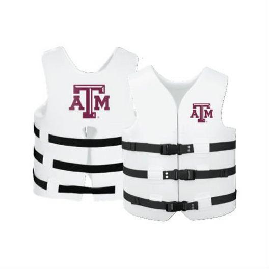 Texas Recreation - Super Soft Life Vest, Texas A&M, Adult Small - 366291