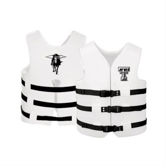 Super Soft Life Vest, Texas Tech, Adult Extra Large