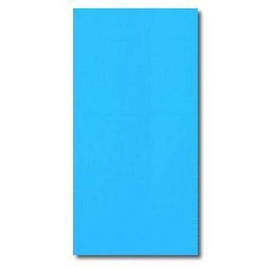 Swimline - Overlap 15' x 26' Oval Solid Blue 48/52 in. Depth Above Ground Pool Liner, 20 Mil - 366464