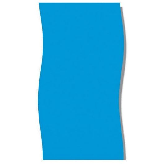 Overlap 16' x 28' Oval Solid Blue 48/52 in. Depth Above Ground Pool Liner, 20 Mil