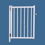 """Saftron - 48"""" x 36"""" Self Closing Gate with 54"""" Plunger Latch, White - 367007"""