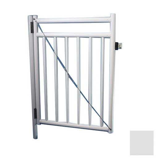 """Saftron - 48"""" x 36"""" Self Closing Gate with Standard Latch, Gray - 367016"""
