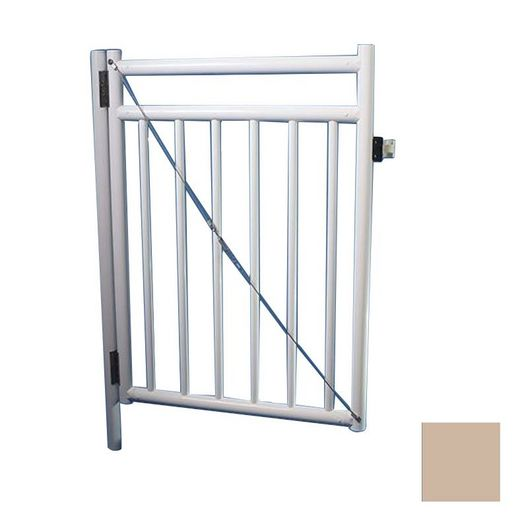 """48"""" x 36"""" Self Closing Gate with Standard Latch, Taupe"""