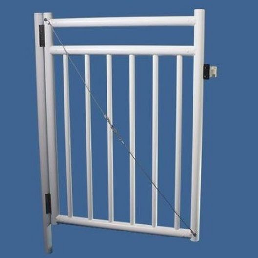 "48"" x 36"" Self Closing Gate with Standard Latch, White"