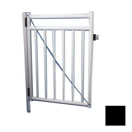 "Saftron - 48"" x 36"" Self Closing Gate with Standard Latch, Black - 367028"