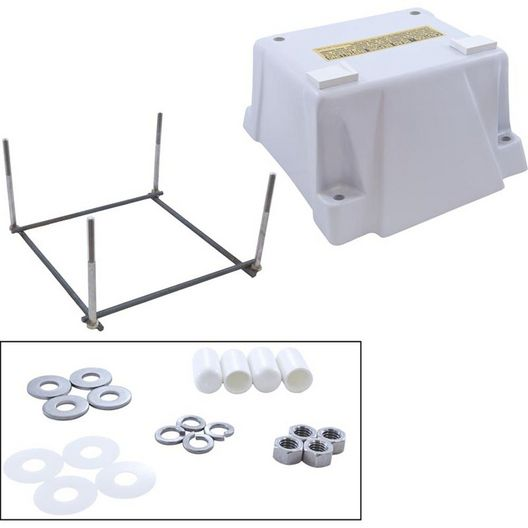 Inter-Fab  Techni-Spring Fiberglass Jump Stand with Mounting Hardware White