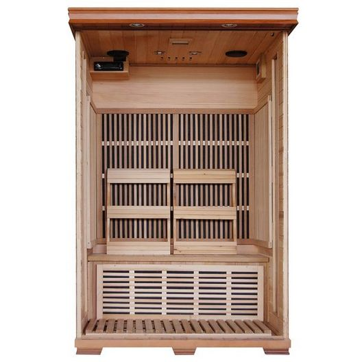 2-Person Cedar Deluxe Sauna with Carbon Heaters