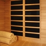 4-Person Hemlock Corner Infrared Sauna with Carbon Heaters