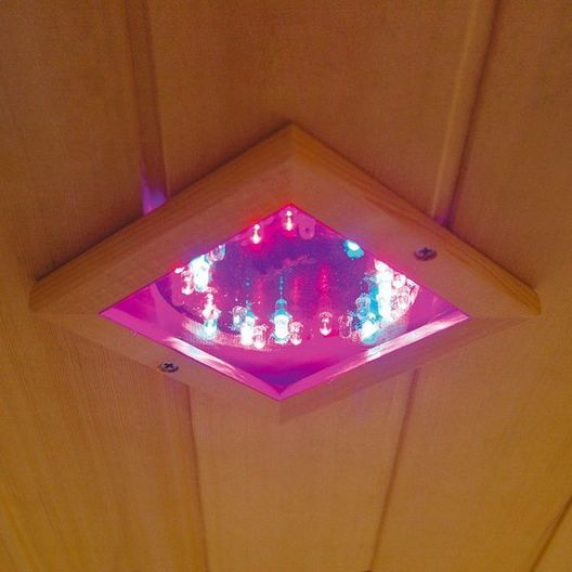 Heatwave  4-Person Hemlock Corner Infrared Sauna with Carbon Heaters