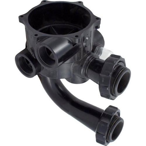 Hayward - Valve body, inc. sight glass & gasket, filter tank pipes w/locknuts for Pro Series