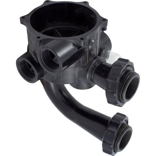Hayward - Valve body, inc. sight glass & gasket, filter tank pipes w/locknuts for Pro Series - 367432