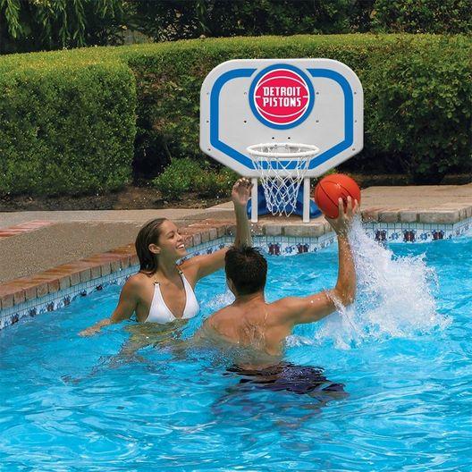 Detroit Pistons NBA Pro Rebounder Poolside Basketball Game