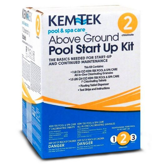 Kem-Tek - Above Ground Pool Chemical Start-up Kit - 367728