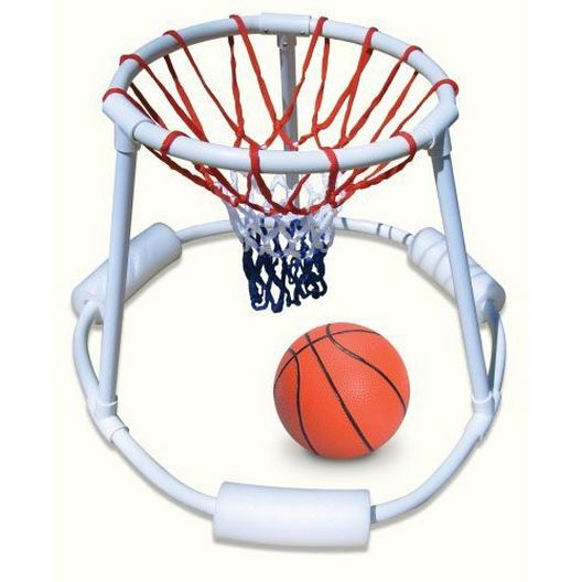 Swimline - Super Hoops Floating Basketball Game PVC Construction, Heavy Duty Net And Real Feel Basketball - 367754