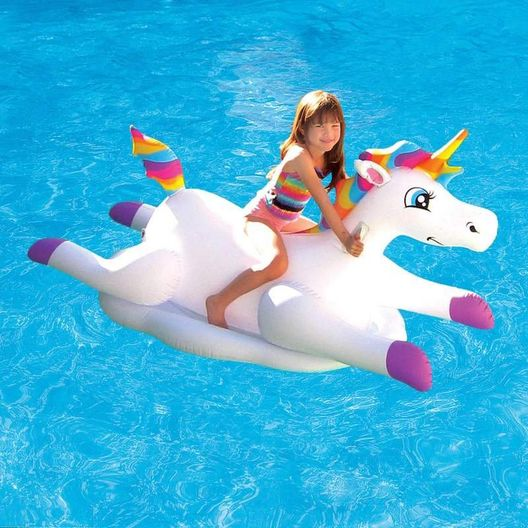 Rainbow Unicorn Inflatable Pool Float
