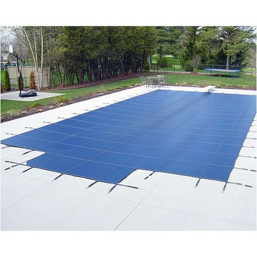 Deck Lock 16' x 38' Rectangle Mesh Safety Cover, Green - 18 Year Warranty