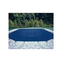 Ultralight Solid Safety Cover 12' x 24' Rectangle with Right Side Step, Green - 20 yr Warranty