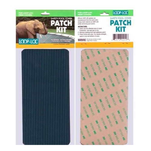 """Loop Loc - Mesh Patch Green Self Adhesive, 3 Pack of 4""""x8"""" Patches"""