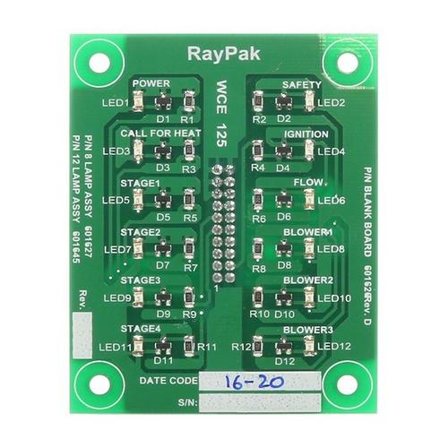 Raypak - Printed Circuit Board Status Lights