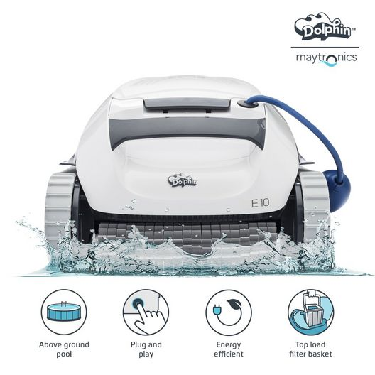 E10 Robotic Automatic Pool Cleaner for Above Ground Pools
