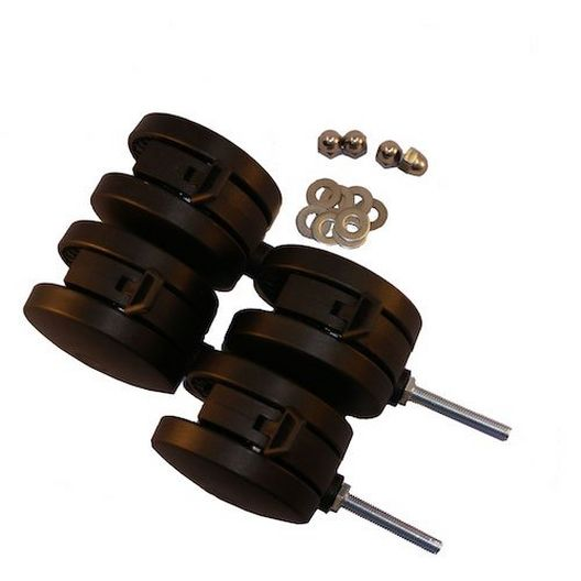 4 inch Casters for 5, 5A, JR, SR, 4/pk