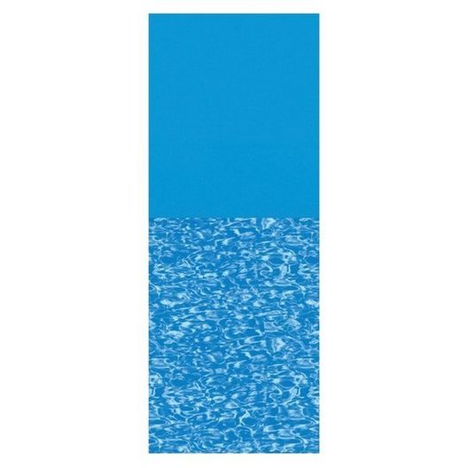 Overlap 12'x24' Oval Print Bottom Above Ground Pool Liner, 48/52 in. Depth