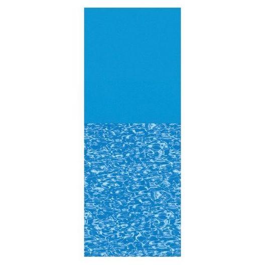 Swimline - Overlap 18' Round Print Bottom Above Ground Pool Liner, 48/52 in. Depth - 368755