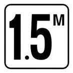 "Inlays - Vinyl Stick-On 1.5M Depth Marker 6"" x 6"" - 368794"
