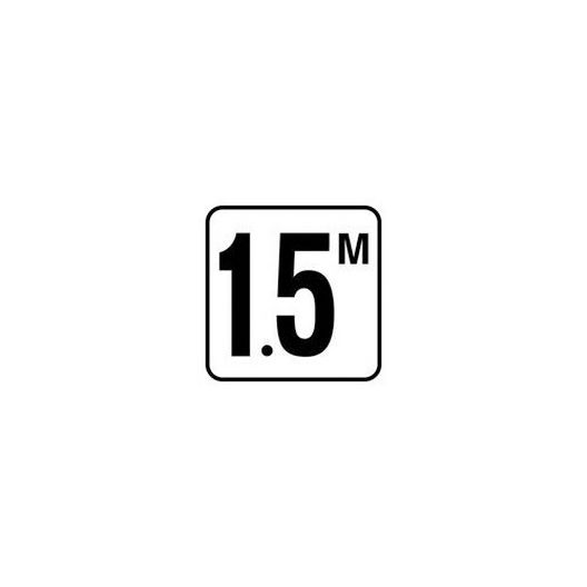 "Vinyl Stick-On 1.5M Depth Marker 6"" x 6"""