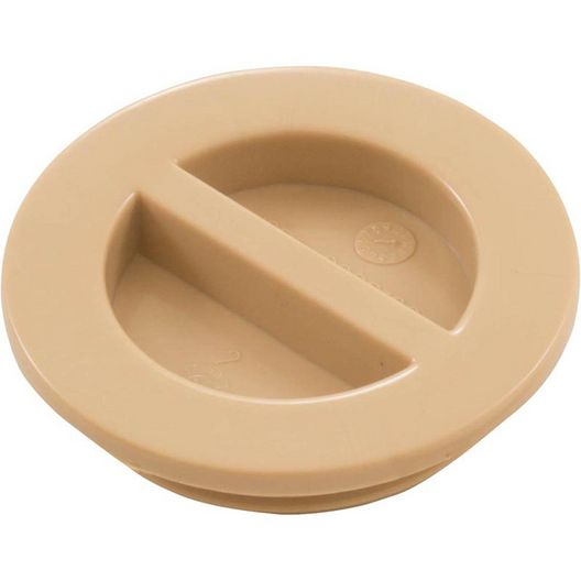 Waterway  Volleyball Pole Holders Flush Plug 1-1/2 MPT with Gasket Beige