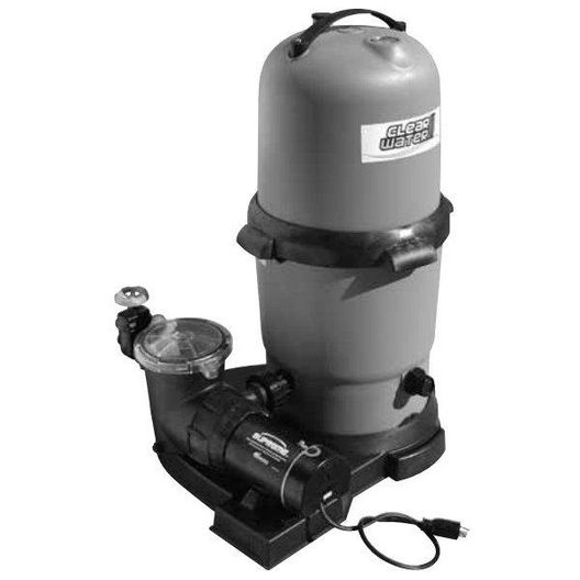 ClearWater II 100 sq. ft. Cartridge Filter Above Ground Pool System with Hi-Flo 1-1/2HP Dual Speed Pool Pump with 3' NEMA Cord