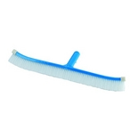 "Pentair - Rainbow #92 18"" Curved Wall Brush Aluminum Blue Back with White Nylon Bristles - 369486"