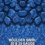 Overlap 18' x 33' Oval 54 in. Depth Boulder Swirl Above Ground Pool Liner, 20 Mil